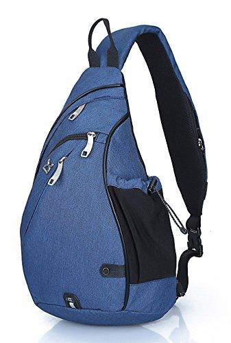 FREEMASTER Sling Bag Rucksack Schultertasche Crossbody Sling Umhängetasche Daypack Für Wandern, Radfahren, Bergsteigen, Reisen,Schule Blau