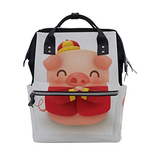 Chinesisches Neujahrs Schwein Große Kapazität Windel Taschen Mummy Rucksack Multi Funktionen Wickeltasche Tasche Handtasche Für Kinder Baby Care Täglich Frauen
