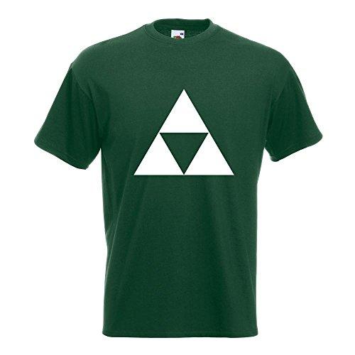 KIWISTAR - Triforce T-Shirt in 15 verschiedenen Farben - Herren Funshirt bedruckt Design Sprüche Spruch Motive Oberteil Baumwolle Print Größe S M L XL XXL Flaschengruen