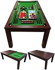 GRAFICA MA.RO SRL Tavolo da Biliardo Diventa Tavolo Sala da Pranzo + Accessori per Carambola Modello Green Sta