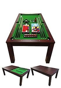 Tavolo da biliardo diventa tavolo sala da pranzo accessori per carambola modello green star 7 - Tavolo da biliardo amazon ...