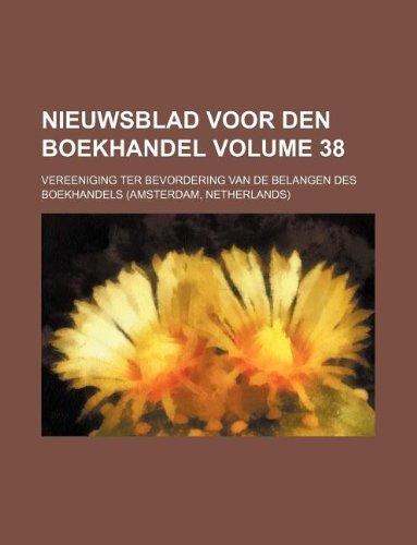 Nieuwsblad voor den boekhandel Volume 38