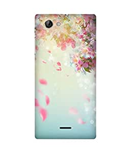 Petal Rainfall Back Cover Case for Sony Xperia J