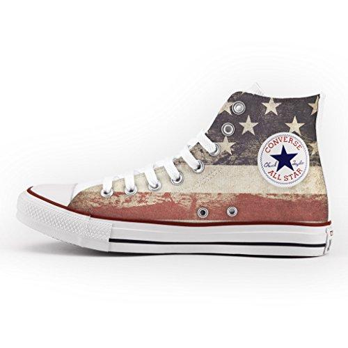 Converse All Star personalisierte und gedruckte - custom modell - Vintage USA