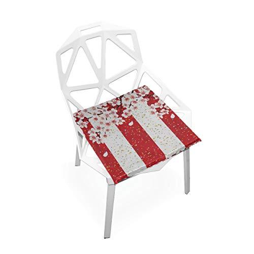 Enhusk Auto Kissen Sitz Kirsche Frühling Blume Weiche rutschfeste Memory Foam Stuhlkissen Kissen Sitz Für Home Küche Schreibtisch 16x16 Zoll Kissen Für Stühle -