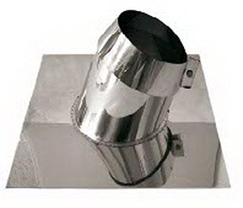 Canna fumaria tubo scarico fumi acciaio inox AISI 316 - parete doppia rame dn 180 faldale per tetti inclinati