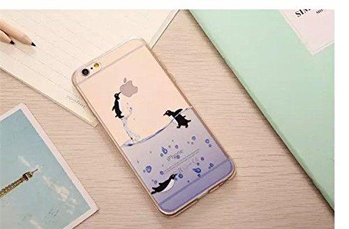 Missley iPhone 6Plus/6S Plus Case, [protezione goccia/Shock Tecnologia di Assorbimento] [polvere tappo] Clear Cover Posteriore Morbida in TPU con motivo per 5,5iPhone 6Plus/6S, Plus Cute Cartoon Co Flying Penguin