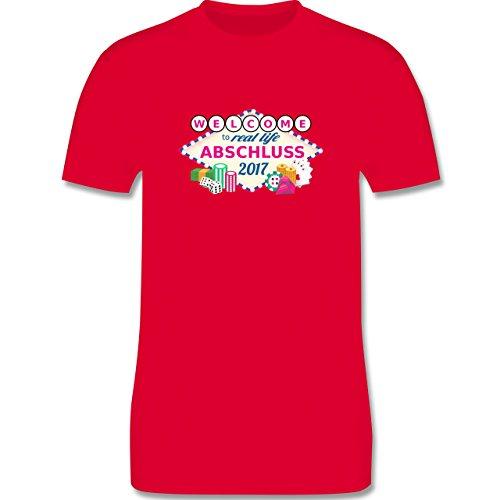 Abi & Abschluss - Abschluss 2017 - Welcome to real life - Herren Premium T-Shirt Rot