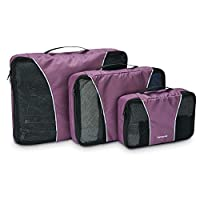 Samsonite 3 Piece Packing Cube Set Travel Tote, Purple, One Size