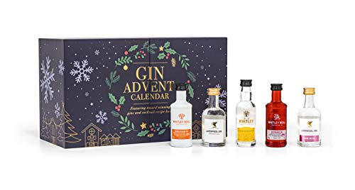 Whitley Neill Gin Advent Calendar 24 Days with Pairing Book, 24 x 5 cl