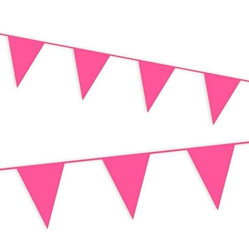 Haza Pinke Wimpelkette,10m für Kindergeburtstag Mädchen, Pullerparty Oder Babyshower