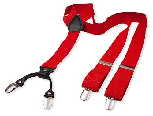 Hosenträger für Herren | Lang | Größe verstellbar bis 125 cm | Extra starke Clips | Y-Form | Echte Leder-Applikationen | Cool & Elegant | In 5 Farben (60er-jahre-smoking)