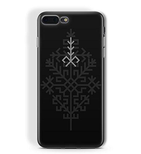 Elastic Slim Transparent TPU iPhone 7Plus und iPhone 8Plus Fall Schwarz Mystic Schutz Pagan Folk Sich, Austra Design von kaladu