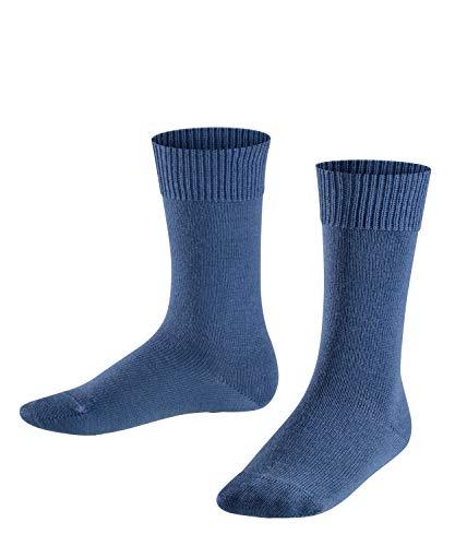 FALKE Kinder Socken Comfort Wool, Schurwolle/Baumwollmischung, 1 Paar, Blau (Bluestone 6067), Größe: 23-26