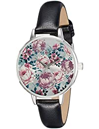 Madden Girl By Steve Madden Analog Floral Silver Dial Women's Watch - SMGW022-BK