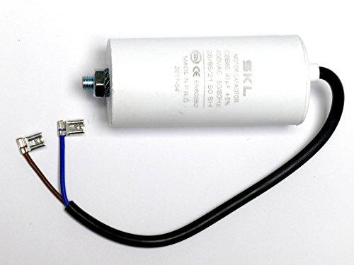 Preisvergleich Produktbild Kondensator 40, 0µF,  Motorkondensator 40uF 450 / 500VAC m. Anschlusskabel,  Betriebskondensator,  Anlaufkondensator Anlasskondensator