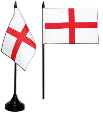Tischflagge / Tischfahne England St. George + gratis Aufkleber, Flaggenfritze® (St George Flagge Aufkleber)