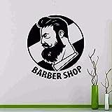 Stickers muraux pour salles de bains, nom de coiffeur homme couper le pain coupe de cheveux photos de la chambre pépinière peinture pendaison affiches bureau autocollant abstrait bricolage...