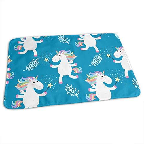 Lindo unicornios bebé reutilizable cambiador portátil de viaje 27.5 x 19.7 pulgadas