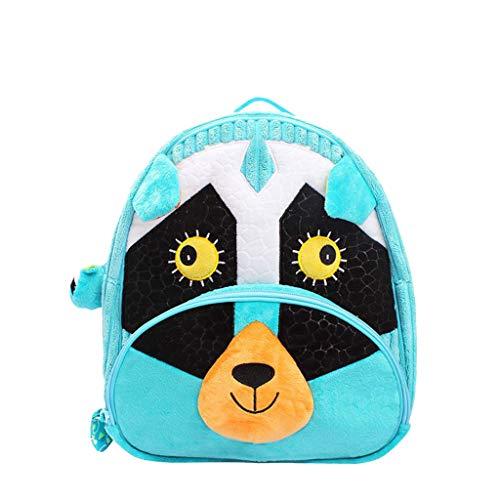 Mitlfuny Unisex Baby Kinder Jungen Zubehör Säuglingspflege,Kleinkind Mini Rucksack niedlichen 3D Tier Cartoon Kinder Plüsch Tasche für Kinder