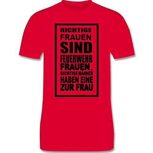 Feuerwehr - Feuerwehr - Richtige Frauen - Herren Premium T-Shirt Rot