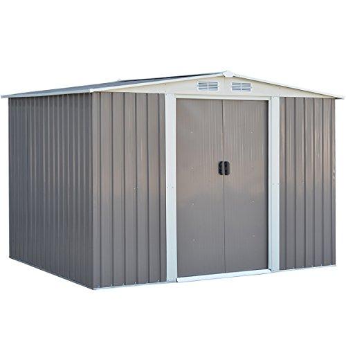 Ein Metall Gerätehaus