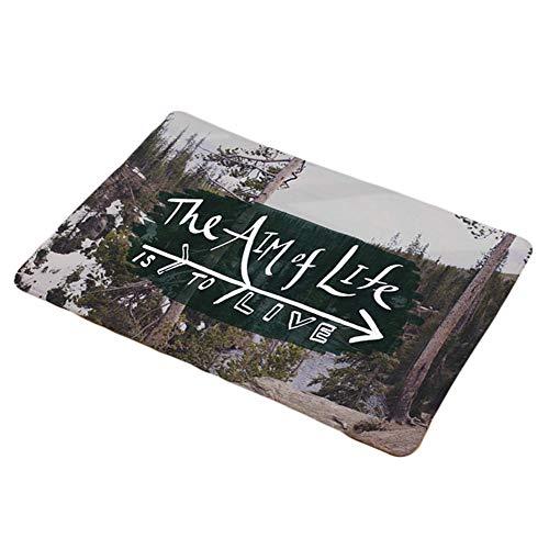 jingyuu Teppich quadratisch Matte Anti-Rutsch-Matte Teppich flauschig Teppich jugendzimmer mädchen Teppich Vintage Grün Wald(1 pcs)
