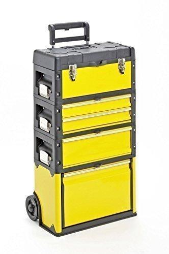 Kunststoff/Metall Trolley 4 Module / 5 Fächer - gelb