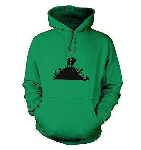 Blur Männer Banksy T-Shirt Kapuzenpullover für Erwachsene Kelly Grün