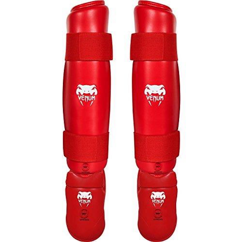 Venum Schienbein und Fußschutz Karate, Rot, XL