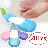 AMOYER 20 Blatt Papier im Freien Spielraum Seife Duft Scheibe Waschen handbad saubere Wäsche Pflege...