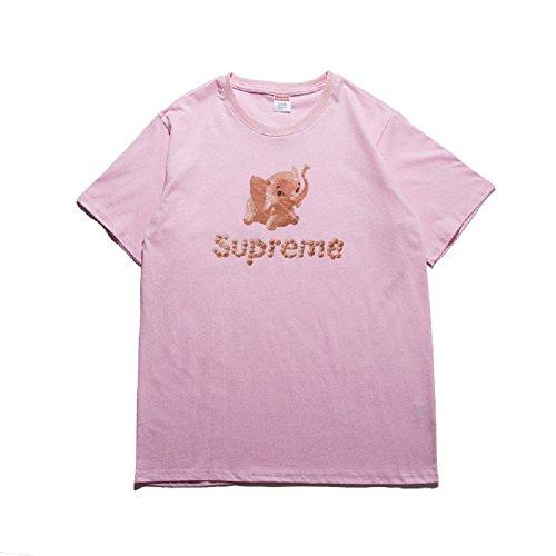 BOMOVO Herren SUPERME Freizeit Und Funktions T-Shirt Mit Rundhalsausschnitt, In Verschiedenen Farben Rosa