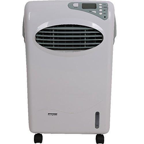 Syntrox Germany 5 in 1 Digitaler Stand Ventilator mit LCD, Fernbedienung, 1200m³/h-10 Liter Tank Standventilator Lüfter Gebläse Windmaschine Klimagerät Klimaanlage