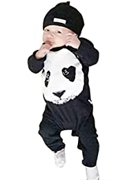 SMARTLADY Primavera Panda Del Mamelucos Del Bebé-Niños De Manga Larga