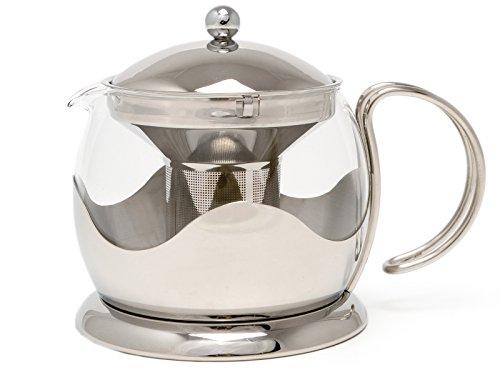 Glas Edelstahl Top (Teekanne großen Edelstahl und Glas