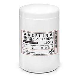 AIESI® Vaselina bianca filante pura BP-USP barattolo da 1 kg per uso Medicale Dermatologico e Professionale # Made in…