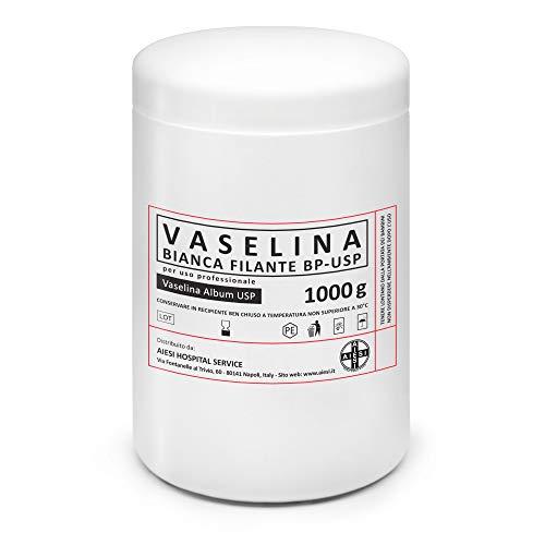 AIESI Vaseline reine weiße Ph. Eur. Petroleum Jelly 1-kg-gefäß für Medizinische und Dermatologische Zwecke (Tätowierungspflege) ✔ Made in Italy