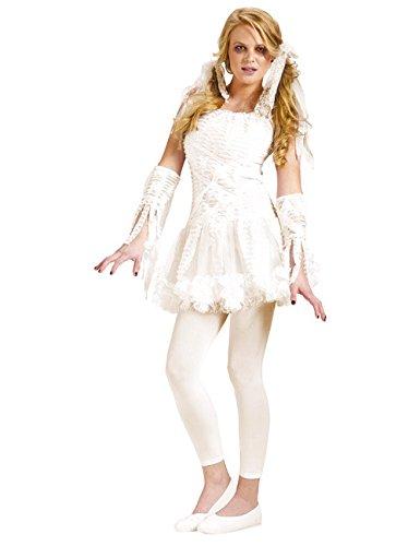 Generique - Mumien-Teenkostüm für Halloween Weiss XS