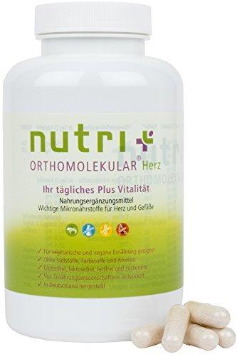 HERZ-VITAMINE - A-Z Präparat für Herz, Kreislauf und Gefäße - OPC Traubenkernextrakt + Omega 3-180 Kapseln - Nutri-Plus Orthomolekular - hergestellt in Deutschland