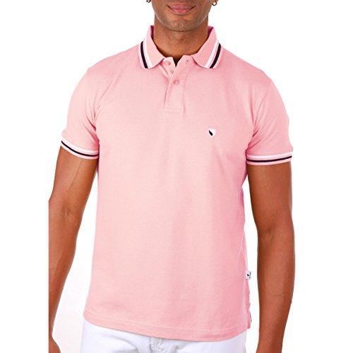 SEBASTIANO Herren Poloshirt Rose