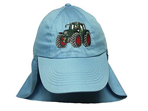 Zintgraf Jungen Legionärs Cap Kappe mit Nackenschutz - Traktor Stickerei Cap40 (hellblau)