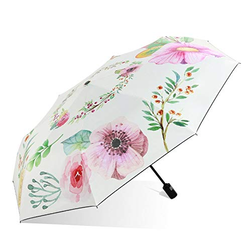 Marciay Sonnenschirm Von Sonnenschirm Uv Schutz Regenschirm Sonnen Und Regenschirm Falten A Mode Living Outdoor Langlebig Leicht Mode Classic Umbrella (Color : B, Size : One Size)