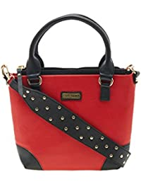 ESBEDA Red Color Solid Pu Synthetic Material Handbag For Women