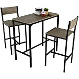 Kit Closet Coimbra - Set de mesa + 2 taburetes altos