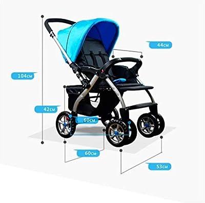 Folding Luxus Kinderwagen Travel System mit Anti-Shock Federn neugeborene Baby-Kinderwagen Adjustable High View Pram Travel System Carriage Infant Kinderwagen Kinderwagen