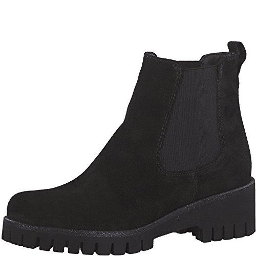 Tamaris Damen Chelsea Boots 25461-21,Frauen Stiefel,Halbstiefel,Stiefelette,Bootie,Schlupfstiefel,hoch,Blockabsatz 4.5cm,Black,EU 40