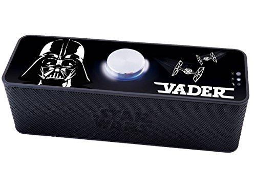 Lexibook Star Wars Rey Poe Finn BB-8 Enceinte Bluetooth Portable 4h d'autonomie prise jack Aux-in Noir/Gris BT500SW