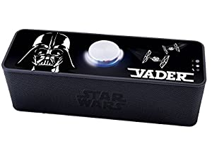 Star Wars Star Wars-BT500 Speaker Altavoz inalámbrico con Bluetooth, batería Recargable (Lexibook BT500SW), Color Negro