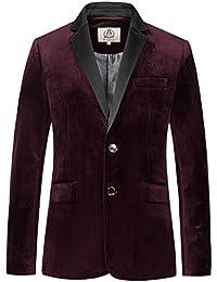 E-artist Herren Samt Sakko Anzug Blazer X39