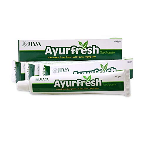 Jiva Ayurfresh toothpaste single Pack of 4 with Almond Soap Single Free